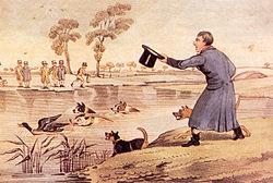 duck baiting Henry Alken 1785-1851