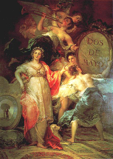 Alegoria de la villa de madrid 1809 Goya