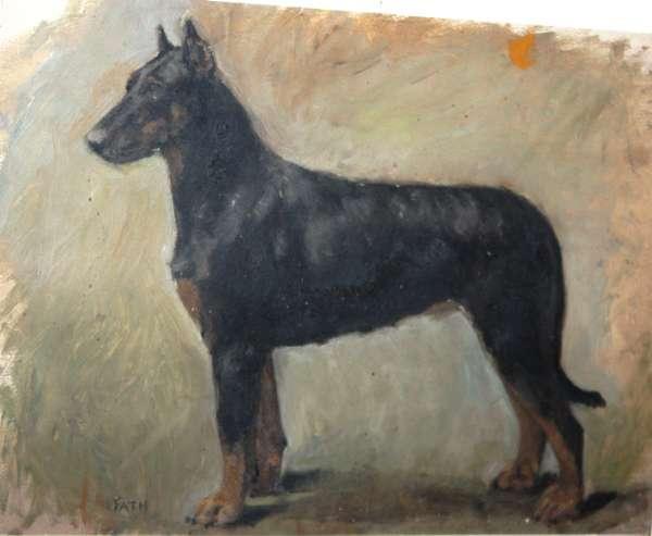 Staties de chiens dans l 39 art - Vente dobermann oreilles coupees ...