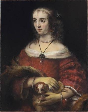 Femmeaupetitchien 1662 Rembrandt