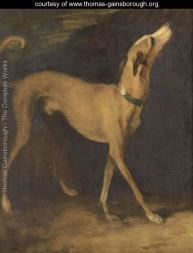 Gainsborough a greyhound in a landscape