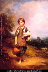 Gainsborough cottage girl with dog and pitcher