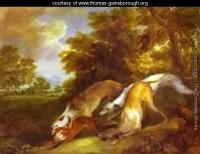 Gainsborough dogs chasing a fox 1784 1785