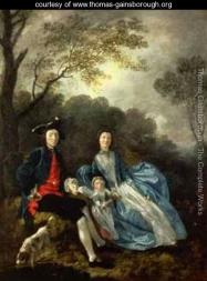 Gainsborugh the artist with his wife and daughter