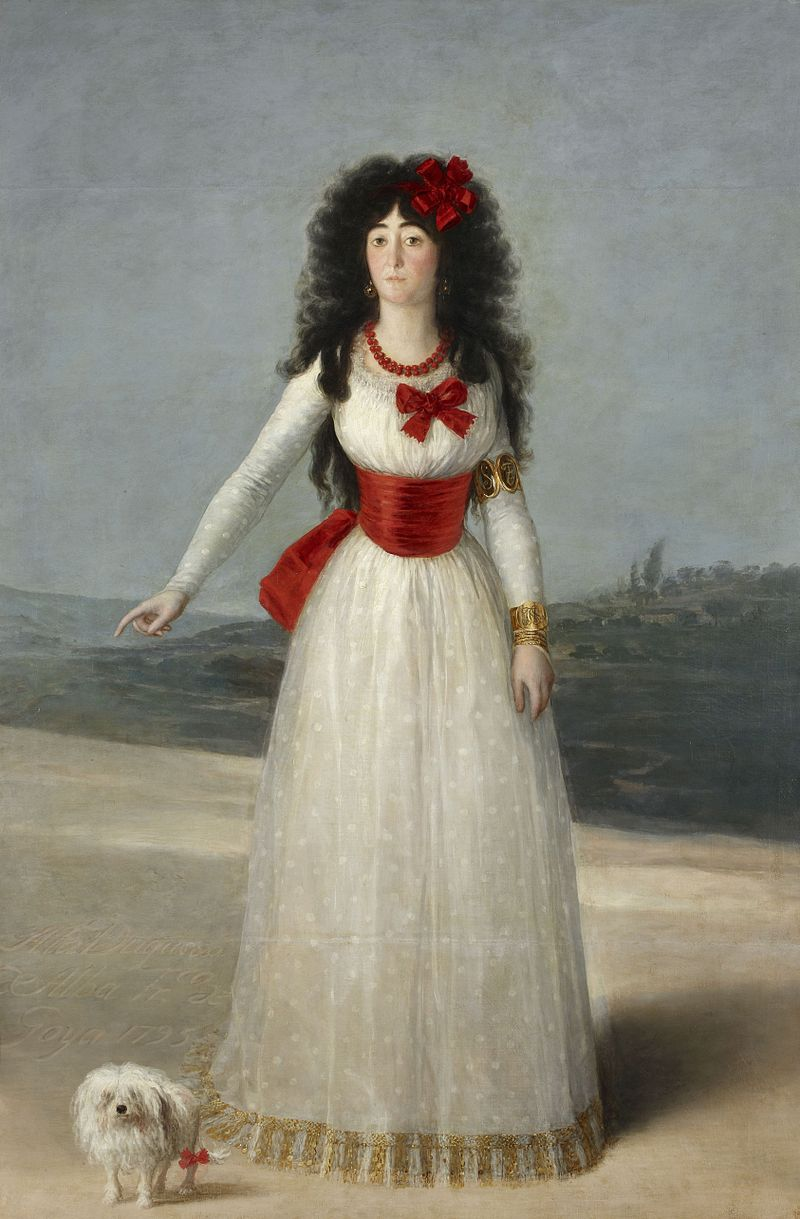Goya la duchesse d alba 1795