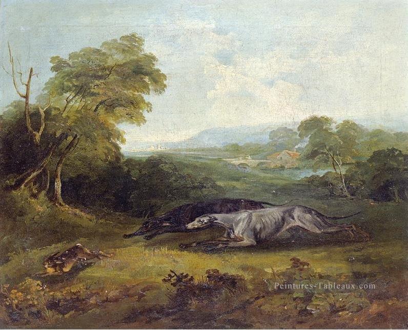 Greyhounds du colonel Thornton Philip Reinagle 1749-1833