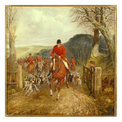 Henry thomas alken a hunt going through a gate