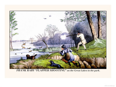 Henry thomas alken frank raby flapper shooting on the great lakes in the park