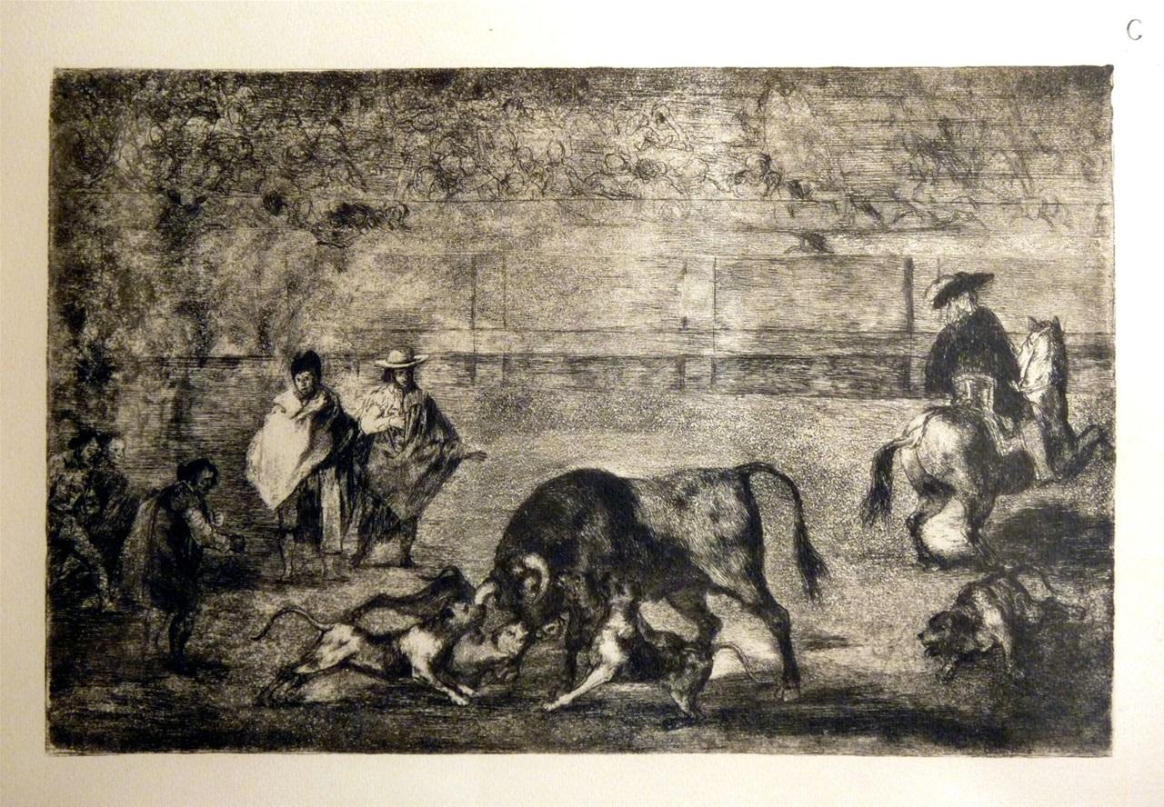 Dogues espagnols avec taureau  Goya 1746-1828