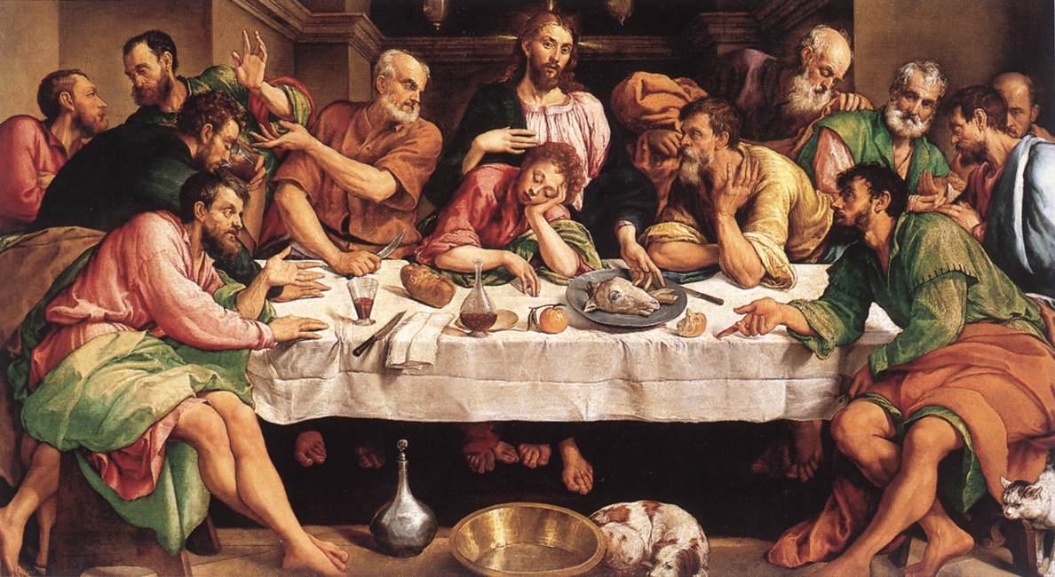 Jacopo bassano last supper 1542