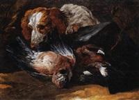 Jan fyt chien gardant un trophee de chasse