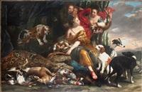Jan fyt diane et ses nymphes avec trophee de chasse