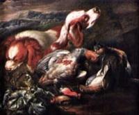 Jan fyt nature morte de chasse aux chiens et aux oiseaux