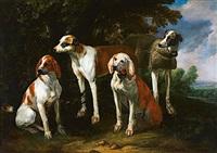 Jan fyt portrait de cinq chiens