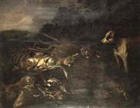 Jan fyt trophees de chasse dans un paysage