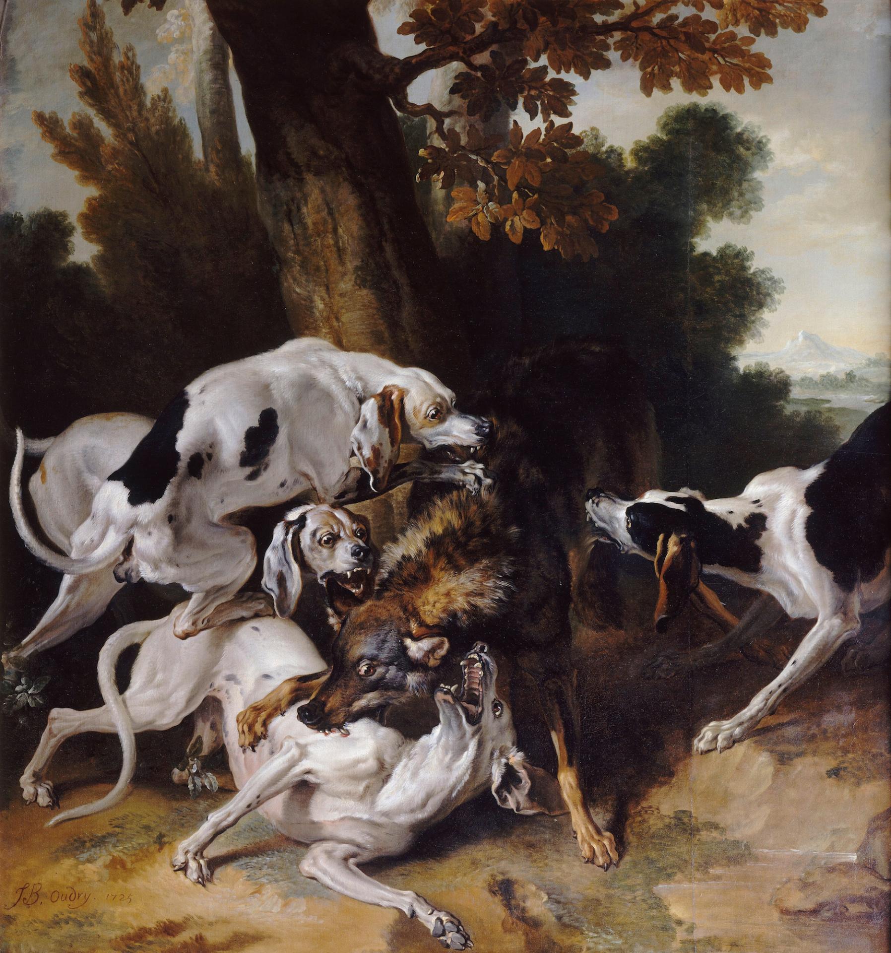 Jean baptiste oudry l hallali du loup