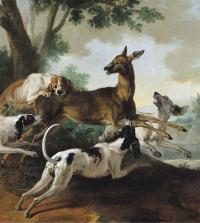 Jean baptiste Oudry chasse au chevreuilt 1725