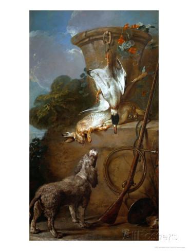 Jean-Siméon Chardin Barbet en tonte de chasse comme tous les barbets e cette époque 1730