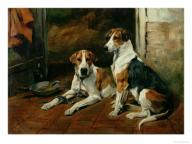 John emms hounds in a stable interior