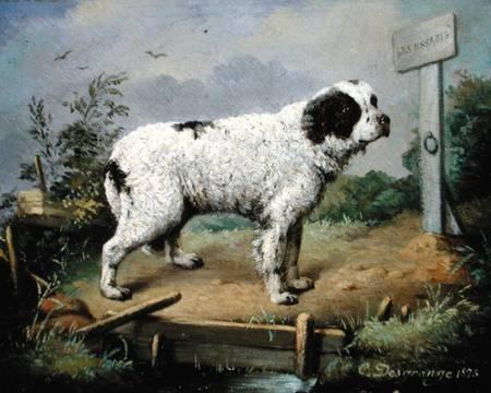 Jean-Baptiste Desgrange Chien de Terre-Neuve sur une grève 1821-1868