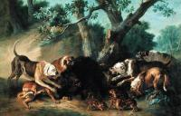 Oudry jean baptiste 1696 1755 dogues a la chasse