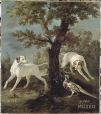 Oudry Perle et Ponne chiennes de la meute royale
