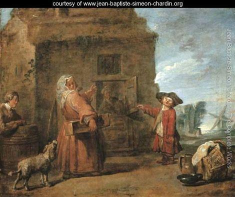 Jean-Siméon Chardin 1699-1779 un barbet en tonte de chasse