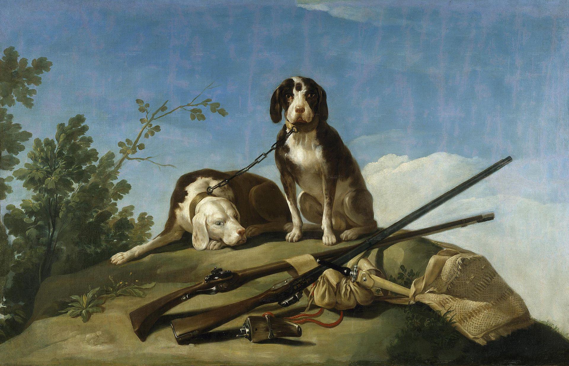 Goya. Perros y utiles de caza 1776