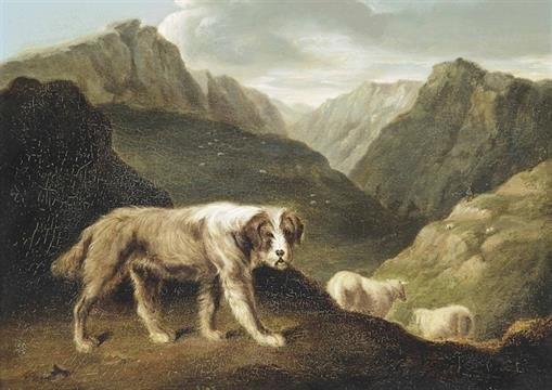 Chien de berger Philip-Samuel RAVEN  1803