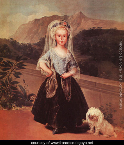 Portait of maria teresa de borbon y vallabriga Goya 1746-1828