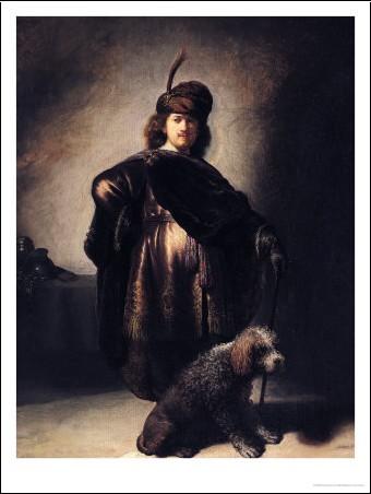 Rembrandt van rijn self portrait in oriental costume 1631