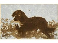 Sir edwin henry landseer a dog with a rabbit