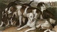 Sir edwin henry landseer head of a deerhound 3 others