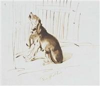 Sir edwin henry landseer lady fitzharris dog venus left at home