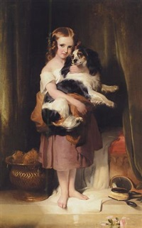 Sir edwin henry landseer portrait of miss eliza peel