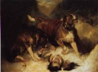 Sir edwin henry landseer st bernard dogs