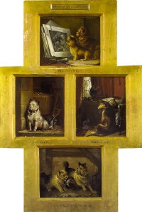Sir edwin henry landseer the critic low life high life and chip off the old block