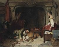 Sir edwin henry landseer the hawkers rest