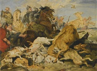 Sir edwin henry landseer the hunting of chevy chase