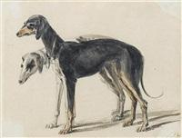 Sir edwin henry landseer two greyhounds