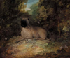 Thomas Gainsborough    Portrait of a pug belonging to Jonathan  Spilsbury in a lanscape   1784