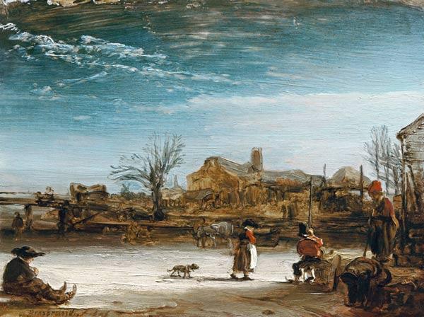 Winterlandschaft Rembrandt 1606-1669